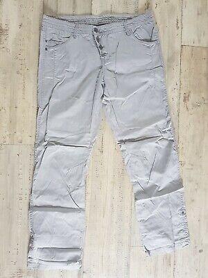 Damen Boyfriend Style Chino Stoff Hose grau Gr. 44XXL Länge 34 Sommerhose | eBay