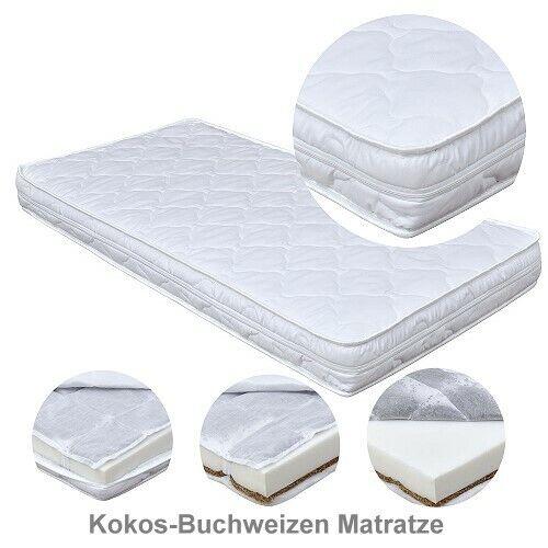 Kinderbett Juniorbett Luca Massivholz weiß 70x140 Matratze