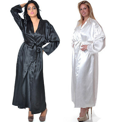 Plus Size Lingerie One Sz Queen One Size Queen Queen Black or White Robe  VX3049X 2551d24f5