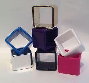 Acrylic Square Napkin Rings