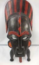 "Unusual African Ivory Coast Senufo Kpelie Mask Hand Carved Wood 14 1/2"""