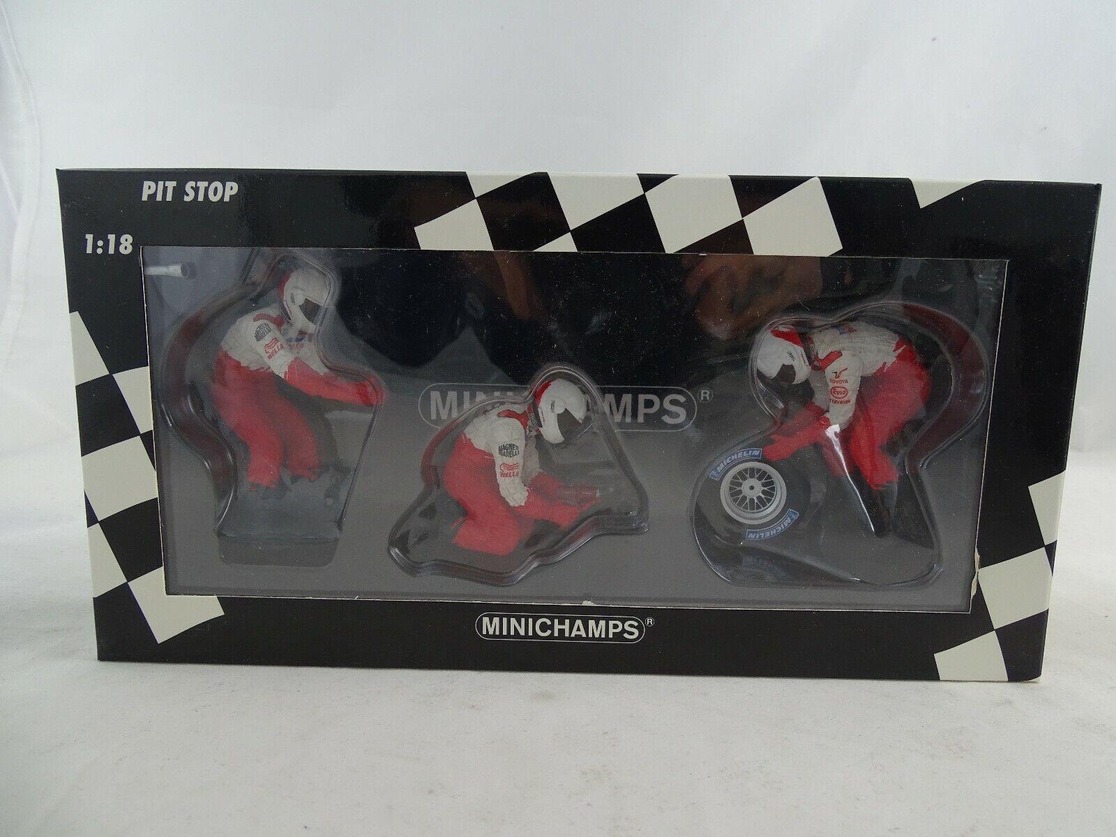 1 18 Minichamps 318100063 Panasonic Toyota Racing Pneus mécanicien personnages set