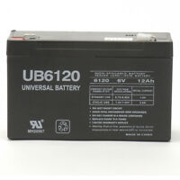 Upg 6v 12ah F2 Sla Replacement Battery For Csb Gp6120, Gp 6120 Ups
