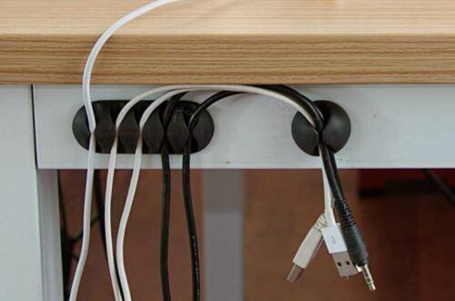 Vielzwecke Kabelführung Kabel Organizer Set Kabelclips Kabelhalter