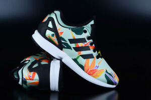 Adidas Originals Zx Flux Nps Green Black Yellow Sneaker Chaussures Chaussures De Course-afficher Le Titre D'origine