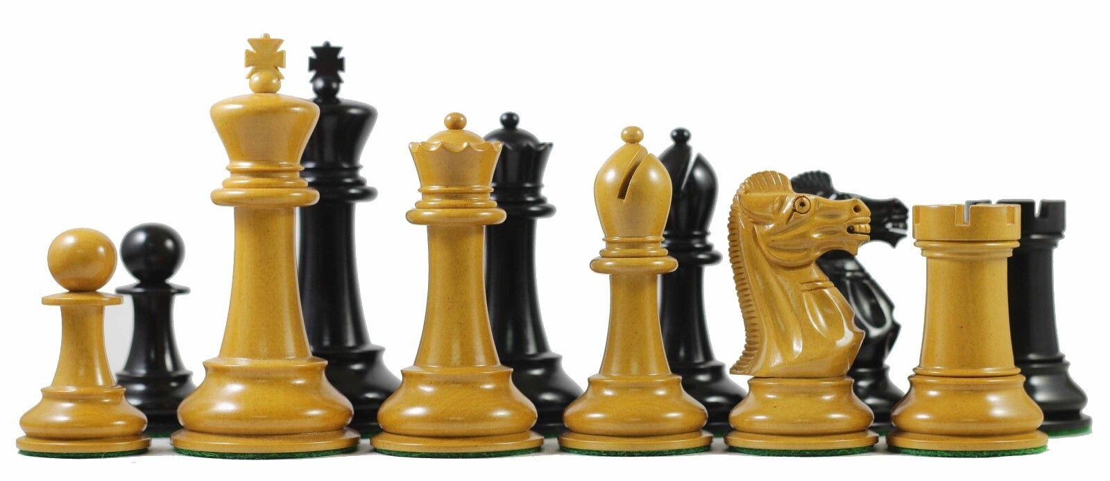 1978 Olympiad Havanna 3.78  Reproduction Antiqued Box wood & Ebonised Chessmen