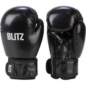 Blitz Carbon Black Boxing Gloves