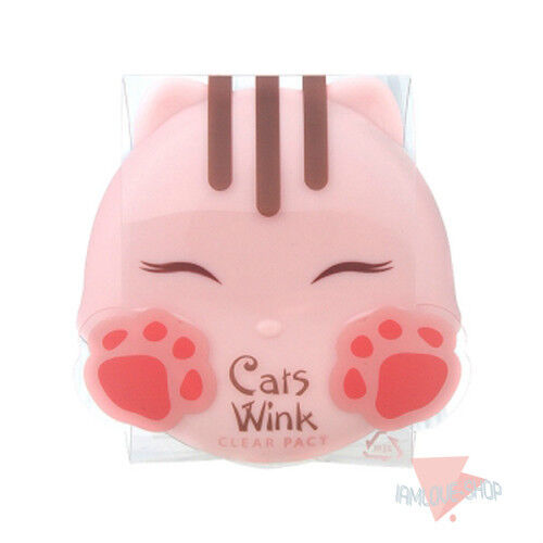 [TONYMOLY] Cats Wink Clear Pact 11g #1 Clear Skin Sebum Control Mild Powder