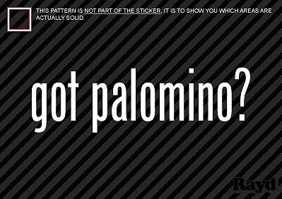 2 Got Palomino Sticker Decal horses allele mane