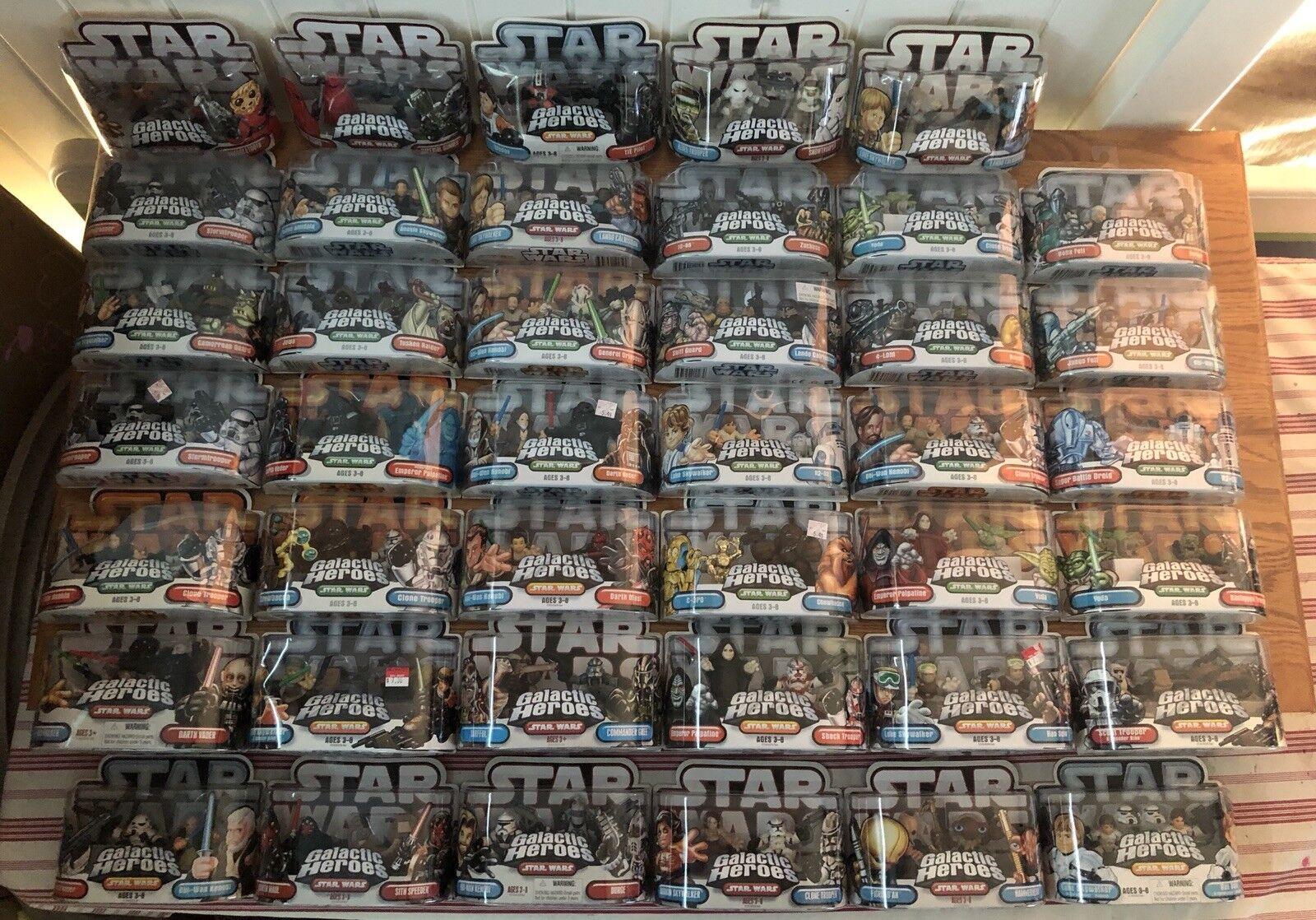 LOT OF 41 estrella guerras GALACTIC HEROES  azione cifras DARTH VADER LUKE cieloWALKER  vendita online