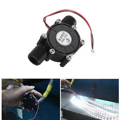 "1/2"" Metal DC 12V 10W Water Turbine Generator Micro Hydroelectric DIY LED Power"