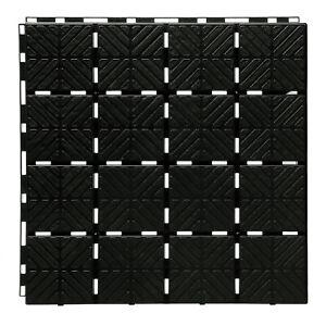 Bodenplatte Schwarz  Frostbeständig Beetplatten Bodenplatten Set 9 Stück