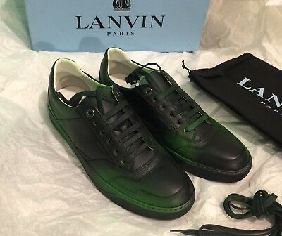 NEW LANVIN LEATHER GREEN MACHINE LOW
