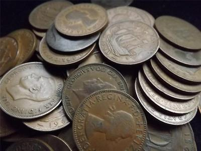 100 bronze coins british Pennies halfpennies farthings very old mixt lot