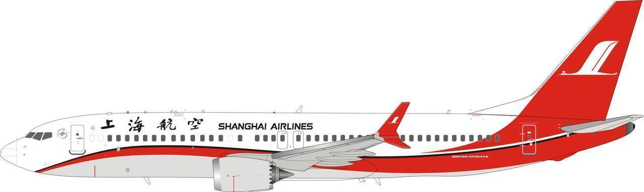 IF73MAXFM001 1 200 Shanghai Airlines Boeing 737-8 Max (Reg à confirmer) avec S