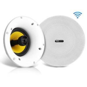 Pyle-Home-In-Ceiling-Lautsprecher-mit-integriertem-Bluetooth-WIFI-Wireless-Musik-Streaming