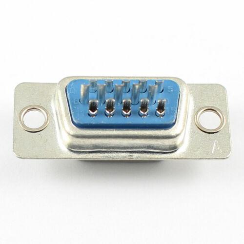 2Pcs D-Sub 15 Pin hembra soldadura tipo zócalo conector VGA fila 3 DB15F