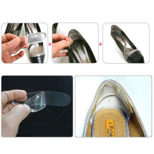 1 Pair Silicone Shoe Heel Inserts Insoles Gel Pads Cushion Shoe Womens Ladies