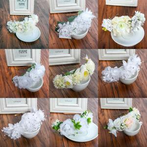 Women-039-s-Bride-Floral-Crown-Flower-Headband-Hairband-Wedding-Hair-Garland-Wreath