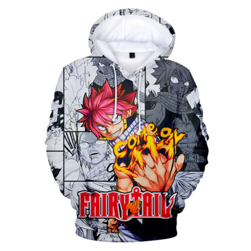 FAIRY TAIL Comic Hoodie Cotton 3D Print Pullover Long Sleeve Tops Sweather