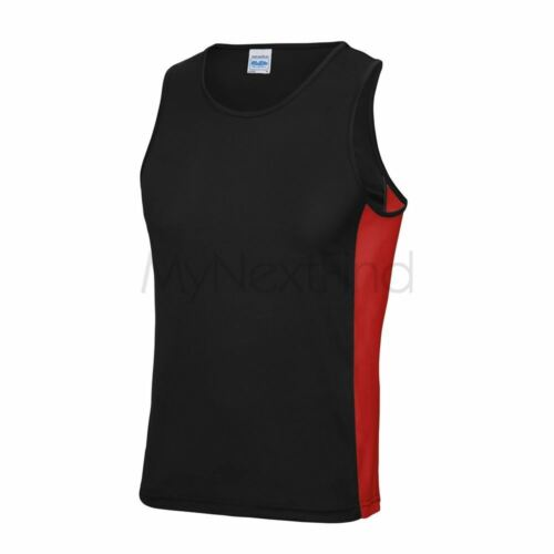 AWDis Just Cool Mens Womens Sports Gym Cool Contrast Vest