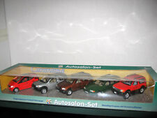 Cararama Set Mercedes A140+ML320+Volvo V70+Land Rover Freelander+Toyota Cru 1/43