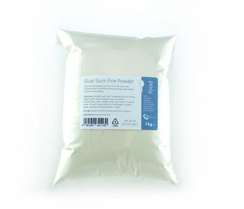 Guar GOMME 1kg-haute qualité de qualité alimentaire poudre fine