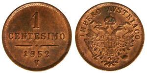 Freundlich 1 Penny 1852 V Königreich Lombardo Veneto Q.fdc/fdc #3186a