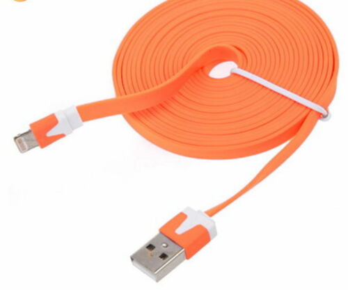 flat noodle usb data Sync charger Cable for iPhone X 8 7 6 plus 5s iPod touch 5