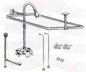 add a shower kit for clawfoot tub. Image is loading Chrome Clawfoot Tub Faucet Add A Shower Kit  W Curtain Rod Drain