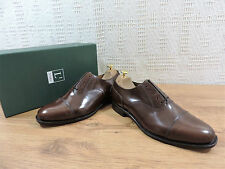 New Loake Men's Brown Oxford Cap Welted Leather Shoes UK 8.5 G US 9.5 EU 42.5