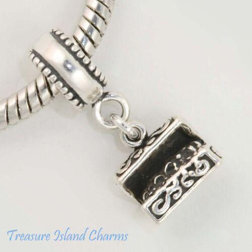Treasure Chest Pirate .925 Solid Sterling Silver European Dangle Bead Charm Euro