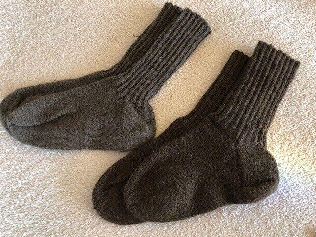2 Paar Herren Socken Gr. 40/41/42/43 Handarbeit selbst gestrickt (I) TOP braun