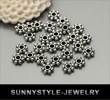 100x Tibetsilber Metall Perlen Spacer 6mm ms478