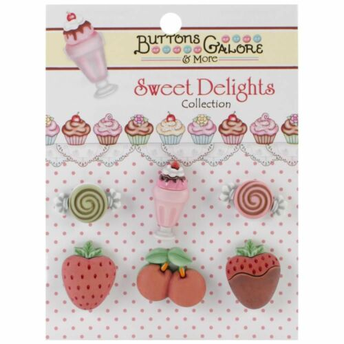 Buttons Galore /& More SWEET DELIGHTS Collection AFTER DINNER TREATS Buttons