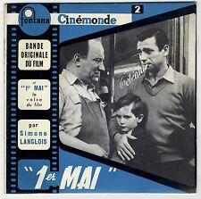 EP 1er mai Simone Langlois Yves Montand Michel Emer Louis Ferrari EXC*