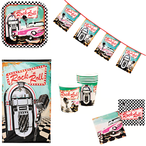 Image Is Loading Rock N Roll American Diner Themed Birthday Party