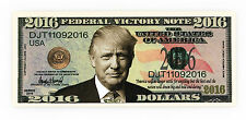 Donald Trump 2016 Fantasy paper money Federal Victory note