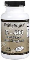 Pure Natural Vitamin E Mixed Tocopherols - 400iu X180caps