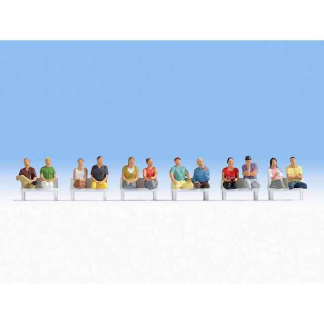 NOCH 15250 1/87 HO PERSONNAGES LOT 6 FIGURINES PASSAGERS ASSIS H0
