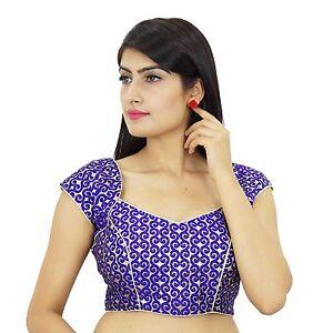 Purple-Crop-Top-Indian-Designer-Sari-Choli-Weaving-Ready-Made-Blouse-BL40A