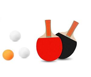 Tennis de table Set de 2 Joueur de Ping Pong jeu Paddle Set Deux Bat /& trois boules
