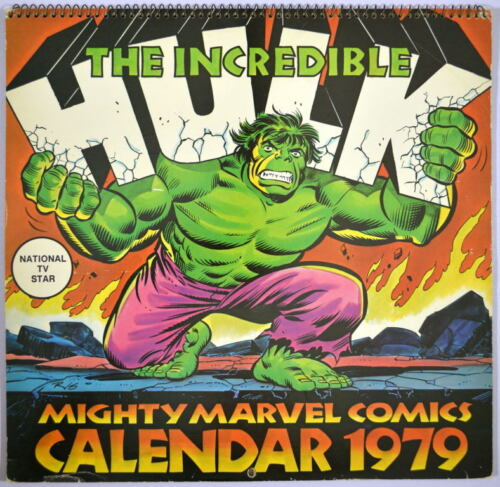 1979 Marvel INCREDIBLE HULK CALENDAR HAND SIGNED by Rubenstein Simonson Perez