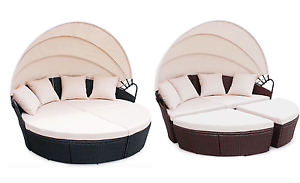 Image Is Loading Rattan Outdoor Garden Bali Day Bed Patio Sun