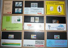 NEDERLAND PTT-MAPJES 13  stuks bijz. uitgiften tussen 1982-1995