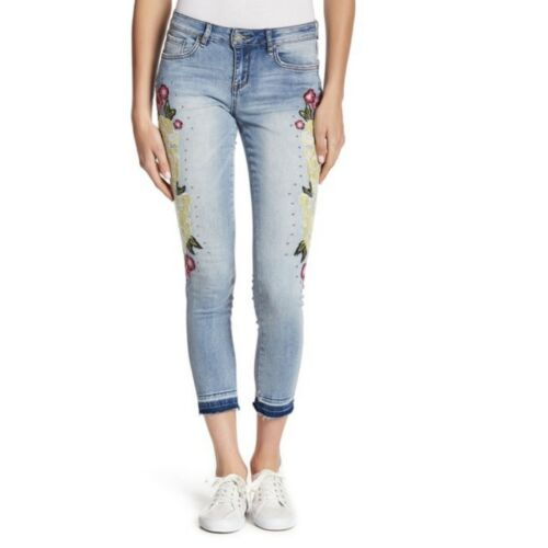 "Rast Kvinder Blå Women's Jeans William Retail Broderede 129 Smukt 29"" Jeans 29 Blue Skinny Embroidered Rast Embellished William Skinny Spvzvn"