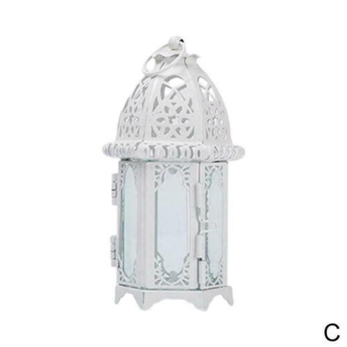 Hängen Marokkanischen Stil Glas Laterne Licht Kerze 7*19CM Home Halter DIY F3D6