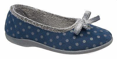 Mujer de las Señoras Zapatillas De Arco/Azul Gris listones de espuma de memoria tamaños de 3 a 8