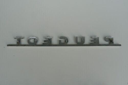 PEUGEOT  emblème logo insigne monogramme hayon coffre en aluminium métal chromé