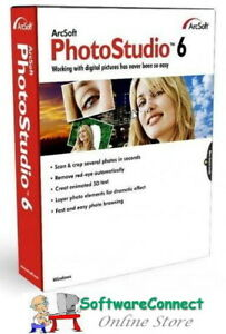 ArcSoft-PhotoStudio-6-Photo-Studio-Full-Retail-New-amp-Sealed-Genuine-GUARANTEE